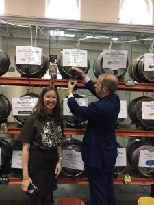 MP Jonathan Reynolds pours a pint