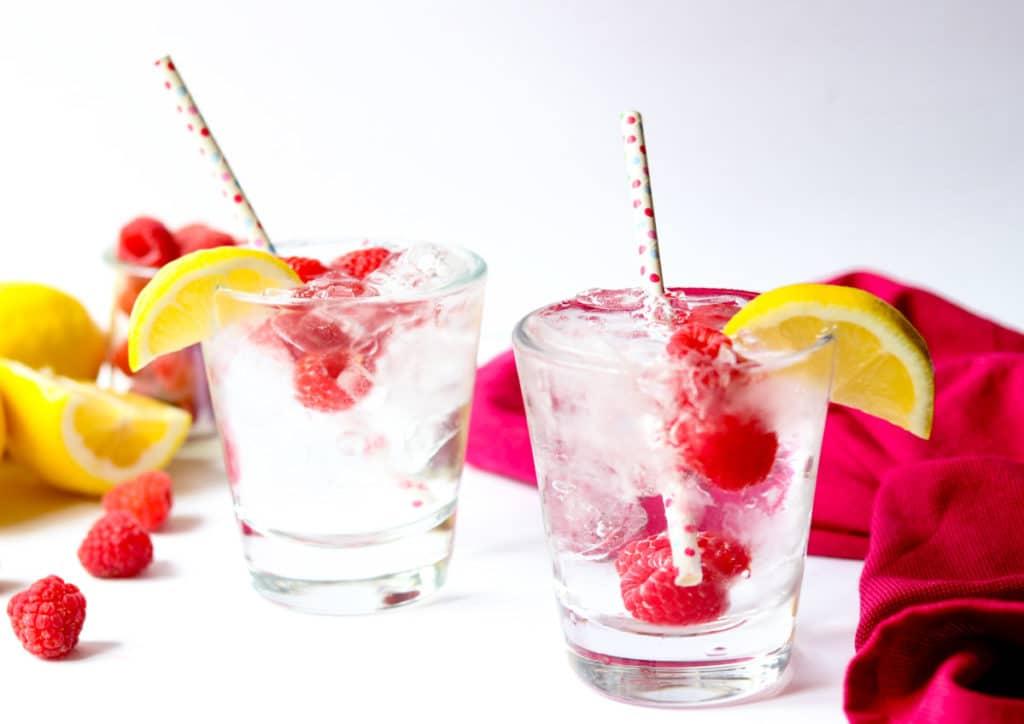 Vodka cocktail in glasses